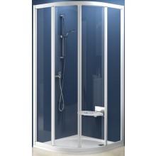 RAVAK SUPERNOVA SKCP4 90 sprchovací kút 875-895x875-895x1850mm štvrťkruhový, štvordielny, posuvný, satin / pearl 31170U0011