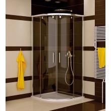 SANSWISS PUR LIGHT S PLSR sprchová zástena 900x2000mm, R550mm, štvrťkruh, dvojdielne posuvné dvere, biela/číra