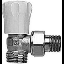 """HERZ GP radiátorový ventil 1/2"""" rohový, s obmedzením zdvihu, poniklovaný"""