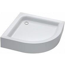 KOLO ŠTANDARD PLUS sprchová vanička 80x80cm, štvrťkruhová, s integrovaným panelom, biela