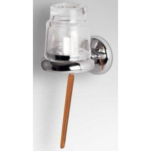 AZP BRNO držiak zubných kefiek 115x85x115mm s pohárikom, chróm