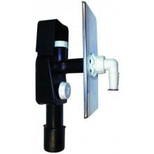 HL zápachová uzávera DN40/50 podomietková vodná, pre práčky a umývačky, nerez oceľ/polyetylén