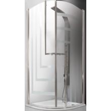ROLTECHNIK TOWER LINE TR1 DESIGN PLUS/900 sprchový kút 900x2000mm štvrťkruhový, s dvojkrídlovými otváracími dverami, bezrámový, brillant/potlač