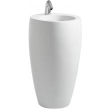 LAUFEN IL BAGNO ALESSI ONE samostatne stojace umývadlo 530x530x900mm bez otvoru, biela LCC 8.1197.2.400.109.1