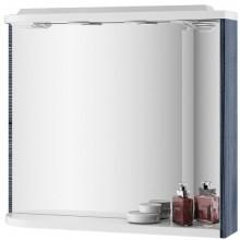 RAVAK ROSA M 780 R zrkadlo 780x160x680mm s poličkou, svetlami, el. zásuvkou, pravá, breza / biela X000000161