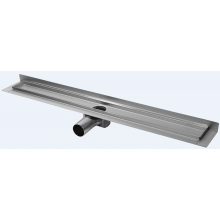 CONCEPT 50 podlahový žľab 785mm, so zadnou vertikálnou prírubou, nerez oceľ