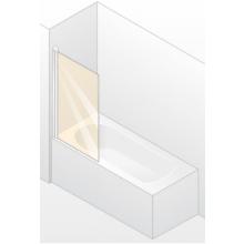 HÜPPE DESIGN 501 ELEGANCE vaňová zástena 750x1500mm jednodielna, strieborná matná/číre anti-plaque 8E1901.087.322