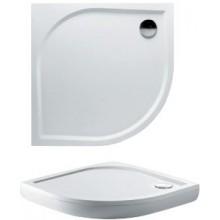 RIHO KOLPING DB10 sprchová vanička 80x80cm štvrťkruh, vrátane sifónu a podpier, protišmyk, liaty mramor, biela