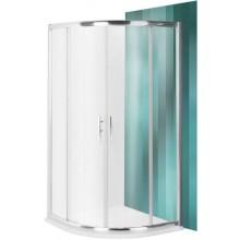 ROLTECHNIK PROXIMA LINE PXR2N/900 sprchový kút 900x1850mm R550 štvrťkruh, s dvojdielnymi posuvnými dverami, brillant/transparent