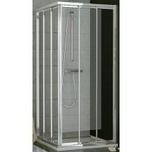 SANSWISS TOP LINE TOE3 D sprchové dvere 800x1900mm, pravé, trojdielne posuvné, matný elox/sklo Cristal perly
