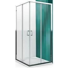 ROLTECHNIK LEGA LINE LLS2/800 sprchový kút 800x1900mm štvorcový, s dvojdielnymi posuvnými dverami, polorámový, brillant/transparent