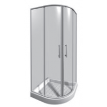 JIKA LYRA PLUS sprchovací kút 800x800x1900mm štvrťkruh, transparentná 2.5338.1.000.668.1