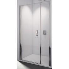 SANSWISS SWING LINE SL31 sprchové dvere 1400x1950mm, jednokrídlové, s pántom pri stene a s pevnou stenou v rovine, aluchróm/číre sklo