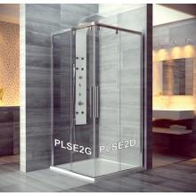 SANSWISS PUR LIGHT S PLS2 sprchové dvere 1500x2000mm, jednodielne, posuvné, pevný diel pravý, aluchróm/číra