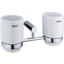 NIMCO BORMO držiak pohára dvojitý 236x104x104mm chróm / biela BR 11058DK-26