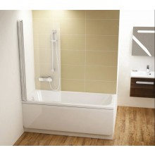 CONCEPT 100 vaňová zástena 800x1500mm jednodielna, pravá biela / transparent PT-CVS1-80 R WT
