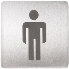 SANELA SLZN44AA piktogram WC muži 120x120mm, nerez mat
