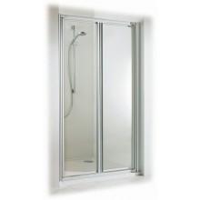 CONCEPT 100 sprchové dvere 900x1900mm lietacie, strieborná/matný plast