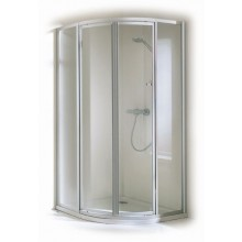 CONCEPT 100 sprchové dvere 800x800x1900mm posuvné, rohový vstup 2-dielny, biela/matný plast