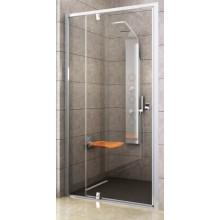 RAVAK PIVOT PDOP2-120 sprchové dvere 1161-1211x1900mm dvojdielne, otočné, bright alu/transparent
