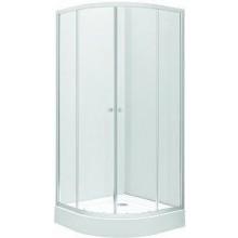 KOLO FIRST sprchový kút 900x1900mm, štvrťkruhový, posuvné dvere, číre sklo/strieborná lesklá