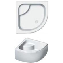 RIHO 343 sprchová vanička 90x90x52cm, štvrťkruh, s nohami a panelom, akrylát, biela