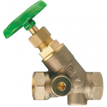 HERZ STRÖMAX-AW uzatvárací ventil DN32 šikmý, s vnútorným závitom, stúpavé vreteno