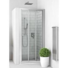 EASY EPD 3/800/1900 B/SK sprchové dvere 800x1900mm posuvné, obojstranný vstup, do niky, biela/transparent
