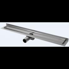 CONCEPT 50 podlahový žľab 985mm, so zadnou vertikálnou prírubou, nerez oceľ