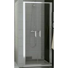 SANSWISS TOP LINE TOPP2 sprchové dvere 800x1900mm, dvojkrídlové, matný elox/sklo Cristal perly