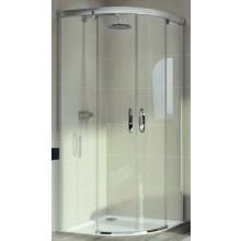HÜPPE AURA ELEGANCE posuvné dveře 900x900x1900 stříbrná lesklá/sklo čiré anti-plaque 402402.092.322