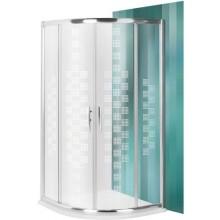 ROLTECHNIK PROXIMA LINE PXR2N DESIGN PLUS sprchovací kút 900x2000mm R550 štvrťkruh, s dvojdielnymi posuvnými dverami, brillant/potlač