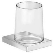 KEUCO EDITION 11 držiak na pohárik a pohárik z ručne fúkaného krištáľového skla 105x114mm, pochrómované