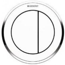 GEBERIT TYP 01 oddialené ovládanie 9,5cm, pneumatické, podomietkové, vystúpené, alpská biela