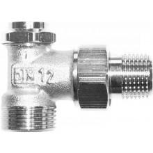 """HERZ RL-5 radiátorové šróbenie 1/2"""" uzatvárateľné, rohové, regulačné, s vypúšťaním"""