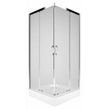 KOLO REKORD štvorcový sprchovací kút 900x900mm posuvné dvere, strieborná lesklá/číre sklo