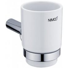 NIMCO BORMO držiak pohárika 84x146x104mm chróm/biela