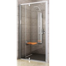 RAVAK PIVOT PDOP2-100 sprchové dvere 961-1011x1900mm dvojdielne, otočné, bright alu/transparent