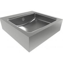 SANELA SLUN65 umývadlo, 400x400x115mm, štvorcové, závesné, nerez mat