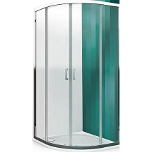 ROLTECHNIK LEGA LINE LLR2/800 sprchový kút 800x1900mm štvrťkruhový, s dvojdielnymi posuvnými dverami, rámový, brillant/transparent