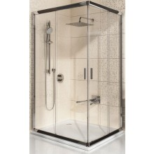 RAVAK BLIX BLRV2K 90 sprchovací kút 880x900x1900mm rohový, posuvný, štvordielny biela / grape 1XV70100ZG