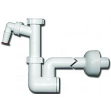 """HL zápachová uzávera DN40x5/4"""" umývadlová, s prípojkou pre práčku alebo umývačku, polypropylén"""