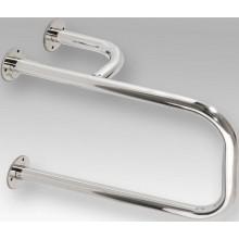 AZP BRNO REHA kombinovaný úchyt k umývadlu 500x197x305mm, pravý, lakovaná oceľ, biela
