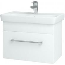 DŘEVOJAS SOLO 600 S kúpeľňová skrinka 54,5x34,6x39,2cm vrátane umývadla MINI 600, biela vysoký lesk