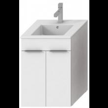 JIKA CUBE skrinka s umývadlom 450x430x607mm, biela / biela 4.5362.1.176.300.1