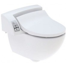 GEBERIT AQUACLEAN 5000 PLUS sprchovacie sedátko 48,5x55cm s keramikou, biela