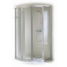 CONCEPT 100 sprchové dvere 1000x1000x1900mm posuvné, rohový vstup 2 dielny, strieborná / matný plast
