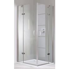 HÜPPE AURE ELEGANCE STS 900 krídlové dvere 900x1900mm s pevným segmentom, pre bočnú stenu, rohový vstup, strieborná lesklá/číre anti-plaque 400302.092.322