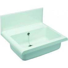 NICOLL ABU COMPACT umývadlo 550x450mm nástenné, so zadnou stenou, plast, granit svetlý