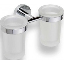 AZP BRNO držiak pohárov 200x120x100mm, na 2 poháre, mosadz, chróm